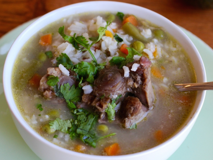 Oxtail, Rice and Vegetable Soup Recipe