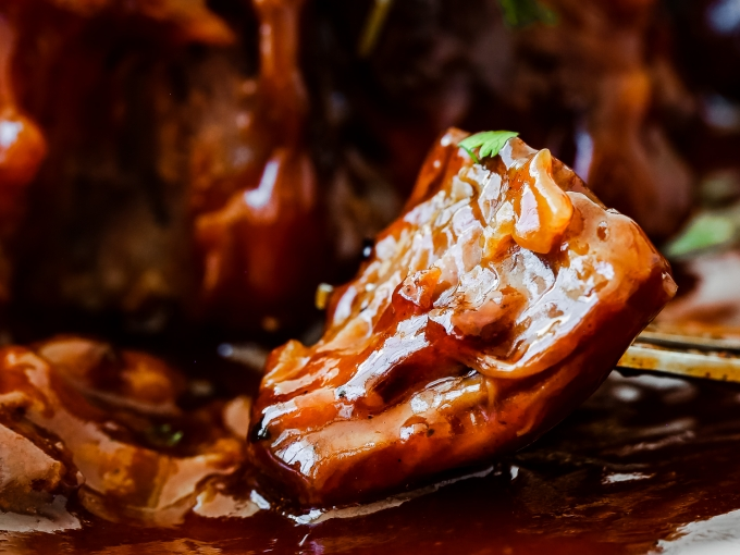 Instant Pot Honey Barbecue Beef Oxtails Plated