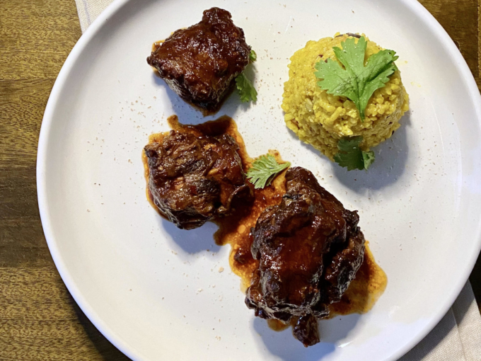 Plated Smoked and Spicy Oxtail